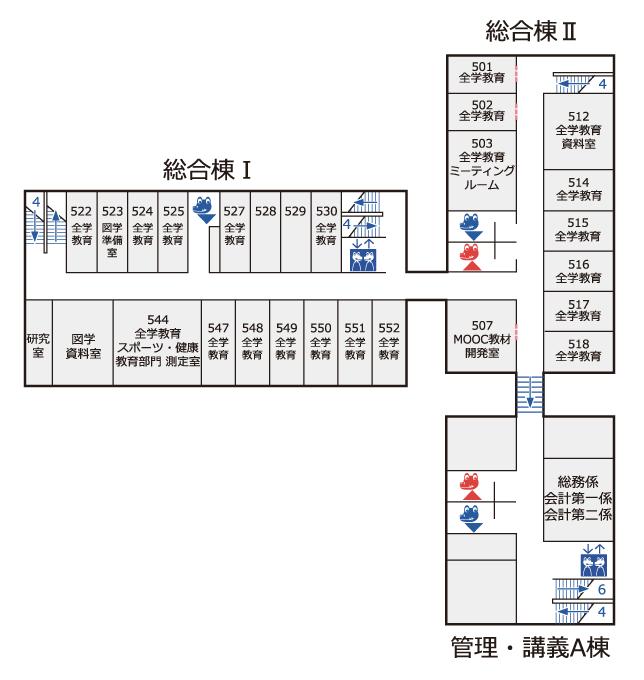 総合棟5階 フロアマップ